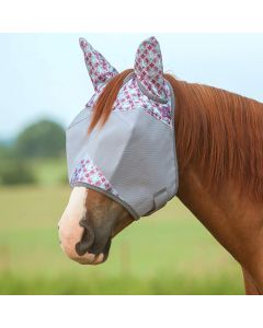 Cashel Crusader Patterned Fly Mask with Ears