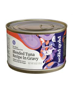 Solid Gold  Blended Tuna Gourmet Cat Can 6oz