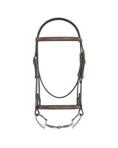 Pessoa Fancy Raised Bridle with Reins