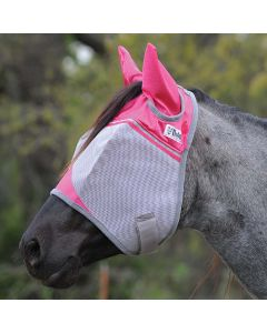 Cashel Crusader Standard Pink Fly Mask with Ears