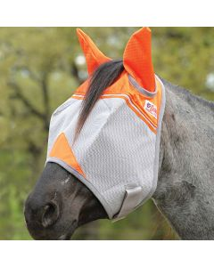Cashel Crusader Standard Orange Fly Mask with Ears