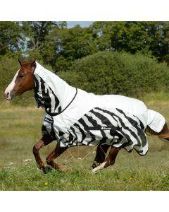 Bucas Zebra Stripe Buzz Off Full Neck Rain Sheet