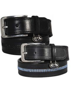 Equine Couture Double Row Bling Leather Belt