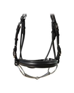 Vespucci Plain Raised Noseband with Crank