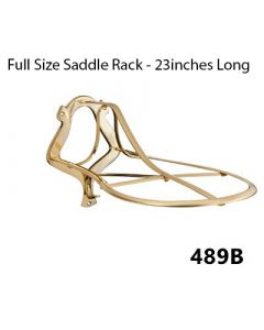 Burlingham Brass Saddle Rack