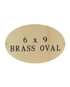 "Burlingham Engraved Plate - Brass 6"" x 9"""