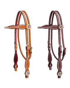 Weaver Texas Star Collection Browband Headstall