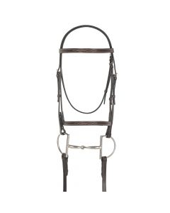 Camelot Gold Fancy Raised Bridle with Laced Reins