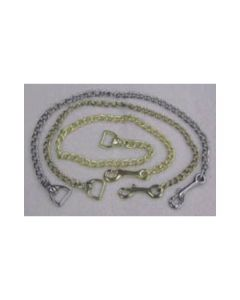 "Lead Chain End - 30"" Plated Brass or Nickle"