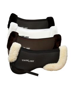 ThinLine TriFecta Cotton Half Pad with Sheepskin Rolls - New Style
