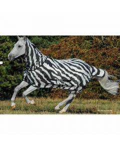 Bucas Buzz Off Zebra Fly Sheet with Detachable Neck