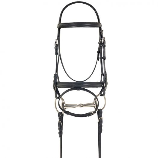 Camelot Dressage Bridle with Anti Slip Reins