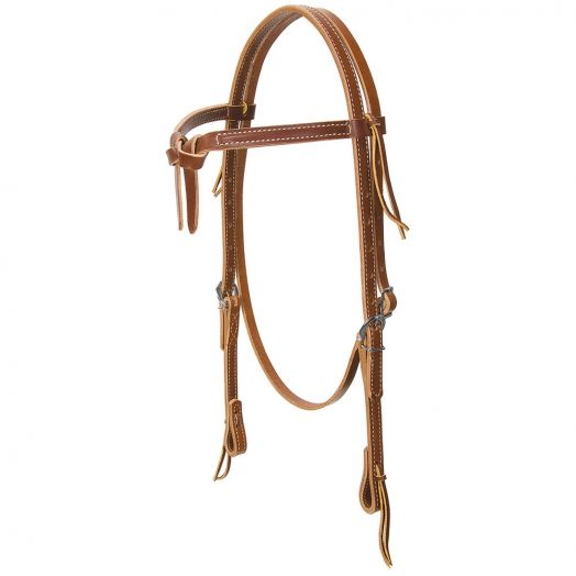 Weaver Deluxe Latigo Knotted Browband Headstall