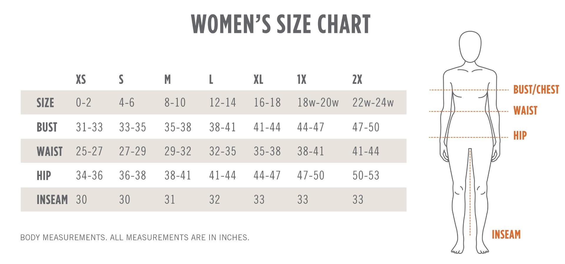 kerrits_womens_size_chart